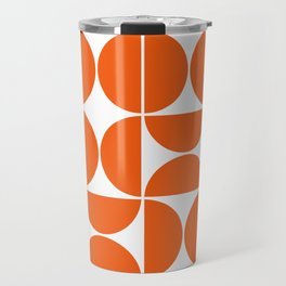 Mid Century Modern Geometric 04 Orange Travel Mug