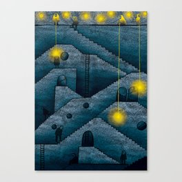 Labyrinth of stairs Canvas Print