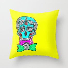 Skeletone (Y) by Anjuri Throw Pillow