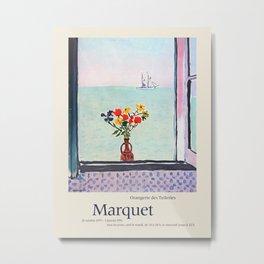 Albert Marquet. Exhibition poster for Musee de l'Orangerie in Paris, 1975-1976. Metal Print