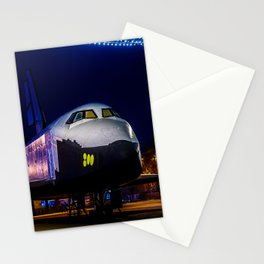 Soviet Space Shuttle Mockup In Gorky Park At Winter Night Stationery Cards