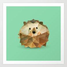 Hedgehog. Art Print