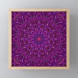 Pretty Purple Mandala Garden Framed Mini Art Print