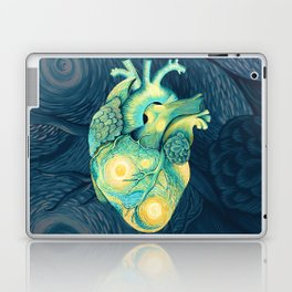 Anatomical Human Heart - Starry Night Inspired Laptop & iPad Skin