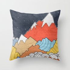 Rocky Mounts Throw Pillow