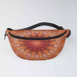 Vibrant Purple Orange Mandala Design Fanny Pack