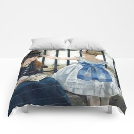 Edouard Manet - Le Chemin de fer (The Railroad) Comforters