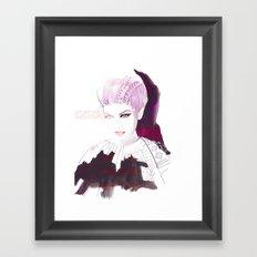 Ethno fashion illustration Framed Art Print
