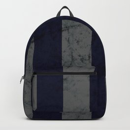 Dark Silver and Blue House Colors Backpack