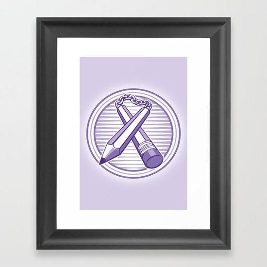 Doodle Weapon Framed Art Print