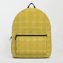 """Mustard Yellow lines """"Ohm Series"""" Backpack"""