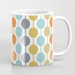 Retro Circles Mid Century Modern Background Coffee Mug