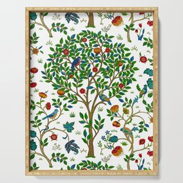 William Morris Tree of Life Pattern, Green & Multi Serving Tray