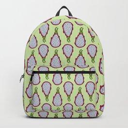 Dragonfruit - Lime Green Doodle Pattern Backpack