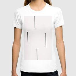 Mudcloth white black dashes vectical T-shirt