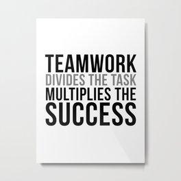 Teamwork Quotes, Office Decor, Office Wall Art, Office Art, Office Gifts Metal Print