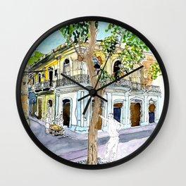 View from Parque Cristo, Habana Vieja, Cuba Wall Clock