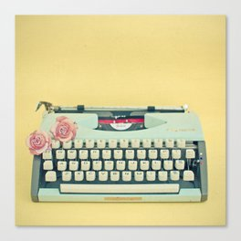 The Typewriter Canvas Print