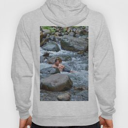 Brothers in harmony in the powerful Mameyes River - El Yunque rainforest PR Hoody