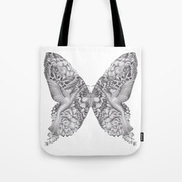FLOWERS, FEATHERS & FLUTTERS Tote Bag