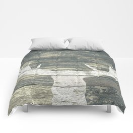 Rustic White Moose Silhouette A424a Comforters