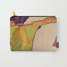 """Egon Schiele """"Male Nude, Propping Himself Up"""" Carry-All Pouch"""