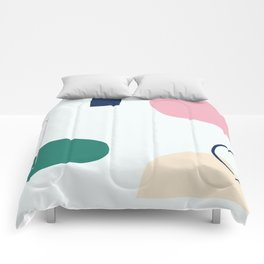 Going to be happy - on white backgroung Comforters