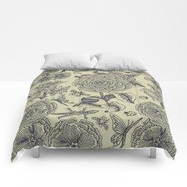 Garden Bliss - vintage floral illustrations  Comforters