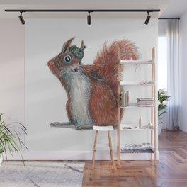 Squirrels' hat Wall Mural