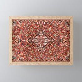 Kashan  Antique Central Persian Rug Print Framed Mini Art Print