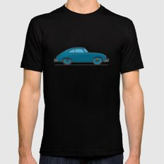 #18 Porsche 356 Mens Fitted Tee LARGE Black