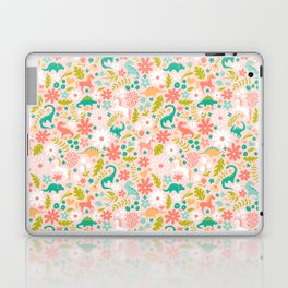 Dinosaurs + Unicorns in Pink + Teal Laptop & iPad Skin