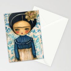 Frida In A Blue And Cream Dress Stationery Cards