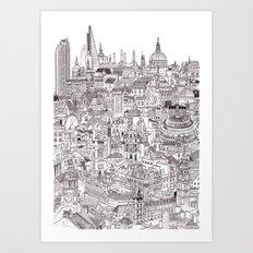 London Cityscape Art Print