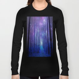 Fantasy Path Purple Blue Long Sleeve T-shirt
