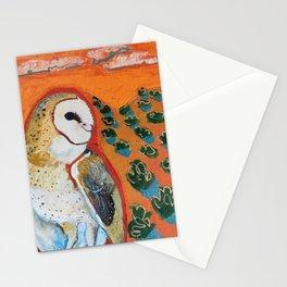 Barn Owl and Orange Stationery Cards