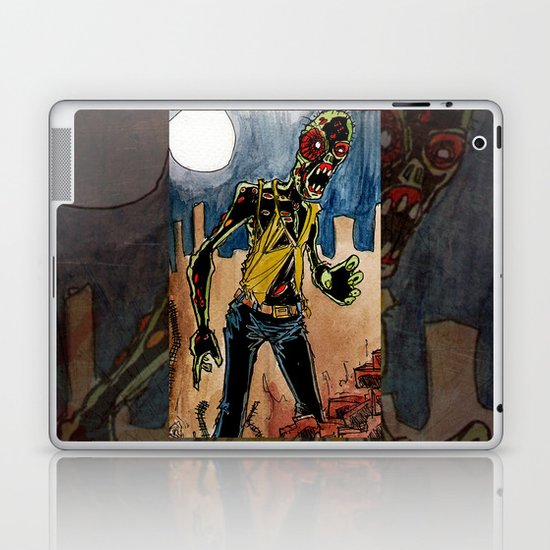 zombie in the ruins Laptop & iPad Skin