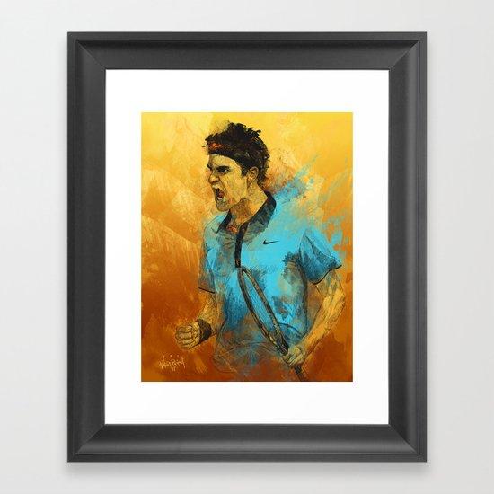 Roger Federer Framed Art Print