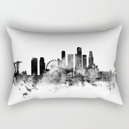 Singapore Skyline Rectangular Pillow