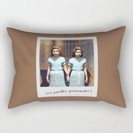 Les jumelles gourmandes ! Rectangular Pillow