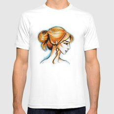 blonde girl Mens Fitted Tee White MEDIUM