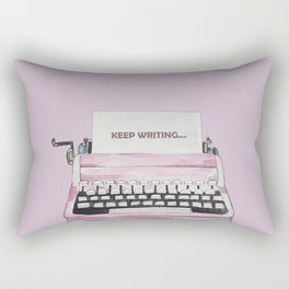 Typing machine watercolor print Rectangular Pillow