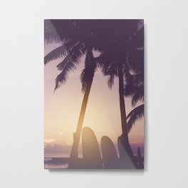 Surfer's Tropical Dreamscape - Coastal Sunset Landscape Metal Print