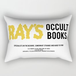 Ray's Occult Books Ghostbusters tribute Rectangular Pillow