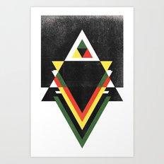 RDGLDGRN Art Print