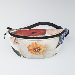 Spring Flowers Bouquet Fanny Pack