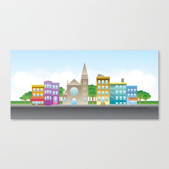 Park Slope Skyline (Color) Canvas Print