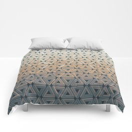 Sunset Hills Geometric Comforters