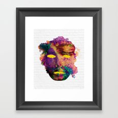 Holi Mask Framed Art Print