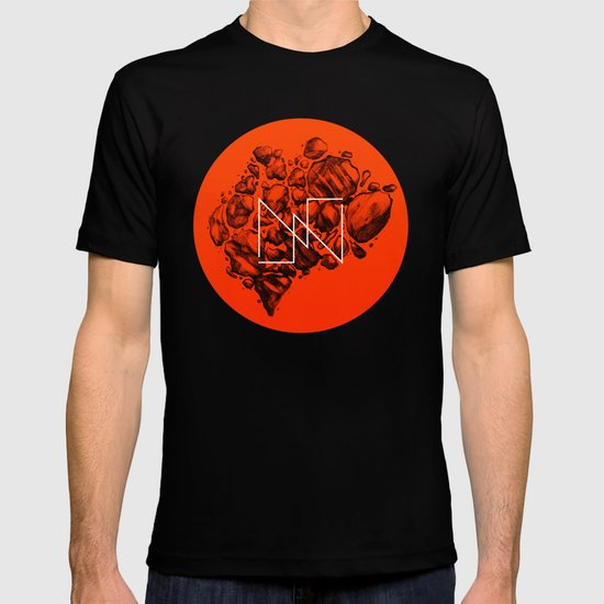 Old School Rocks (Orange Rock Version) T-shirt